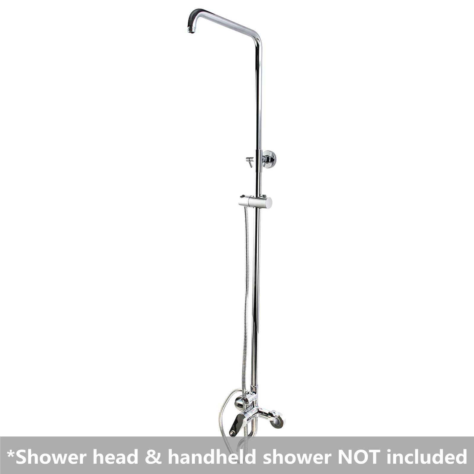 8'' Round Chrome Shower Station Bottom Inlet