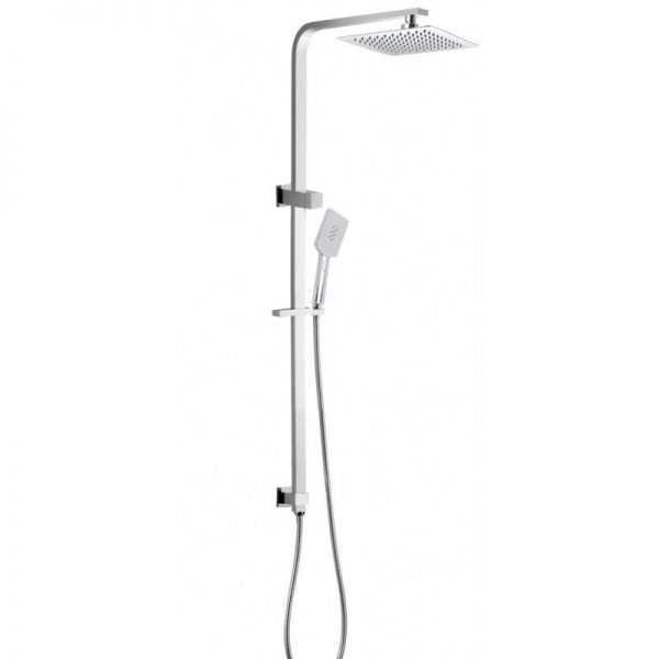 """8"""" Square Chrome Shower Station Top Water Inlet"""