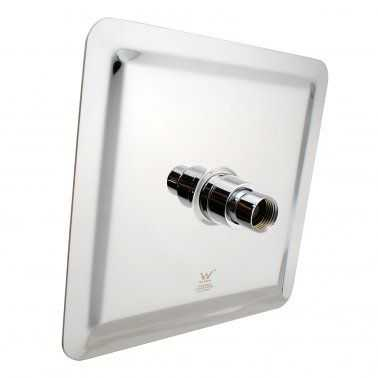 """8"""" Square Chrome Shower Station Top Water Inlet 2"""
