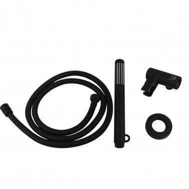 Round Matte Black Handheld Shower Set 2