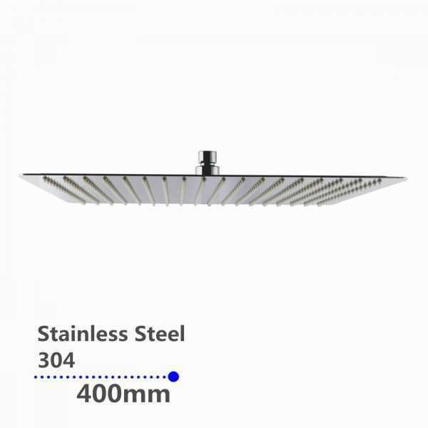 16″ Square Chrome Shower Head(304 Stainless Steel)