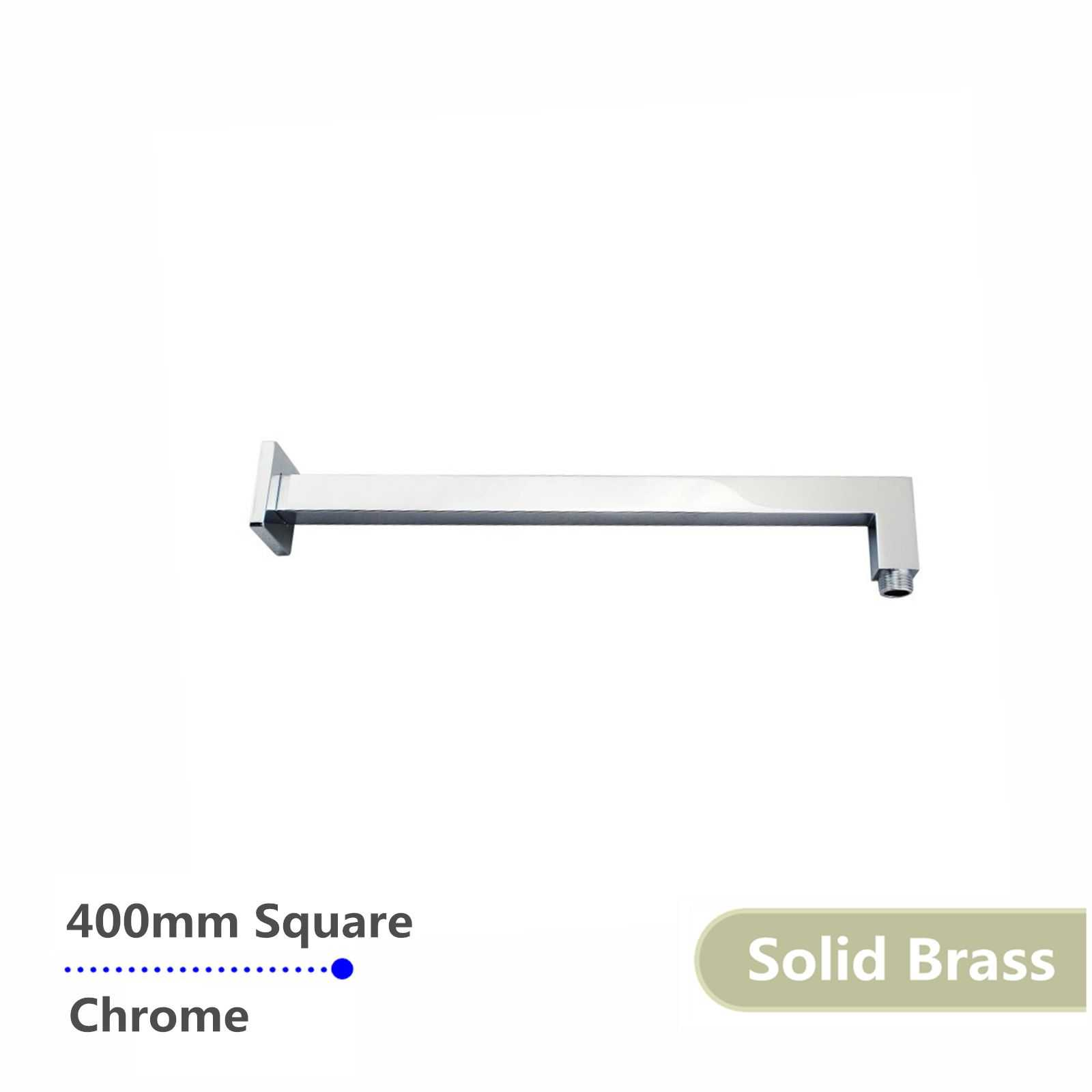 Square Chrome Brass Wall Mounted Shower Arm 400mm