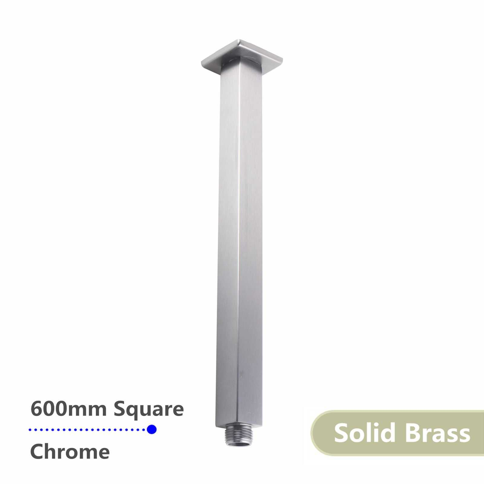 Square Chrome Ceiling Shower Arm 600mm