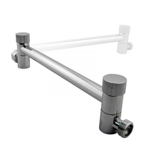 Round Chrome Wall Mounted Shower Arm 2