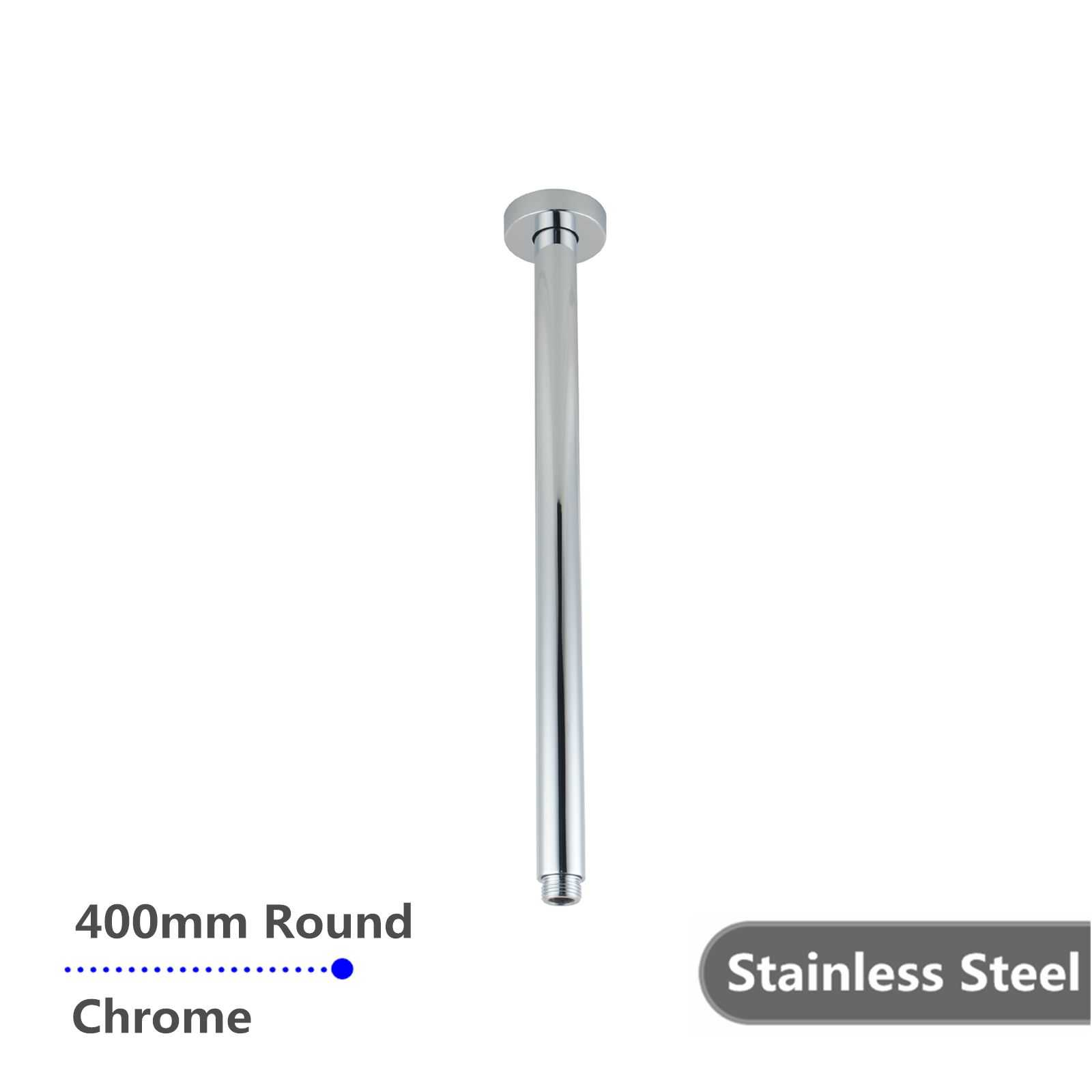 Round Chrome Ceiling Shower Arm 400mm