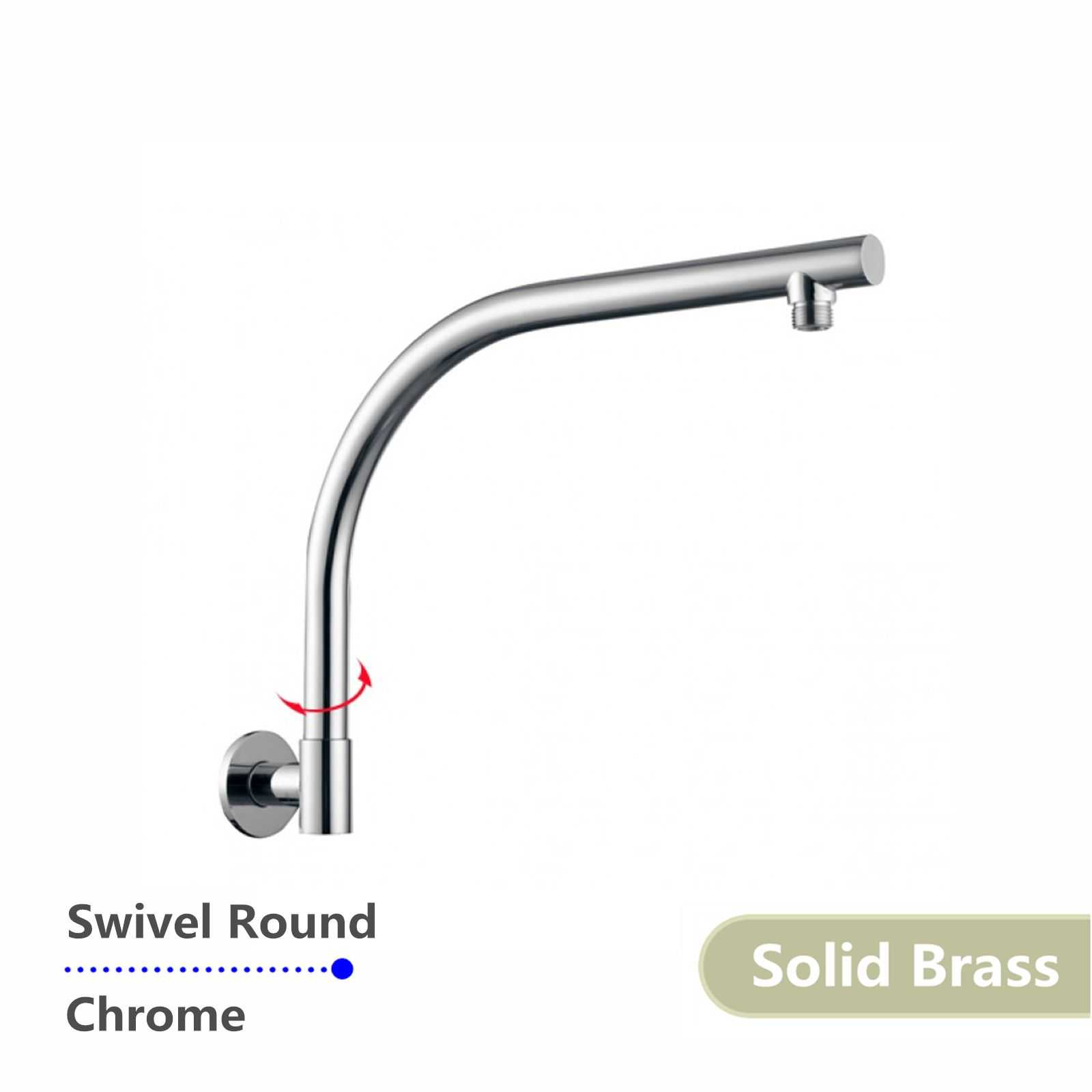 Round Chrome Swivel Wall Mounted Shower Arm