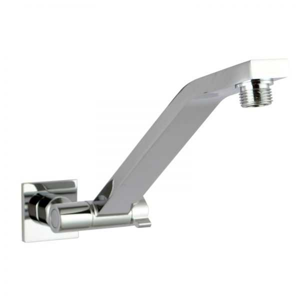 Square Chrome Swivel Wall Mounted Shower Arm 2