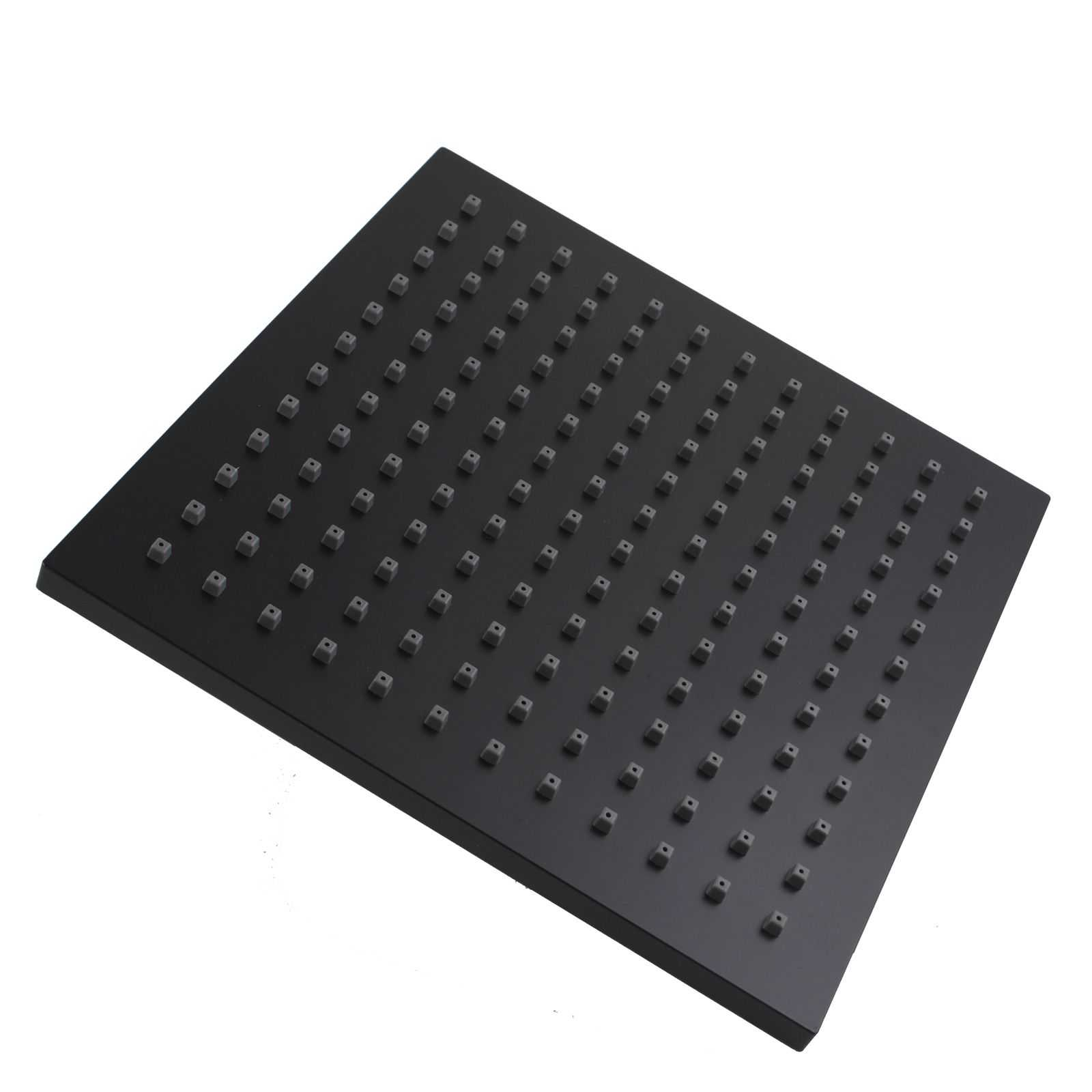 Square Black ABS Rainfall Shower Head 200mm