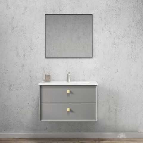 750mm Boston Matte Grey Wall Hung Vanity