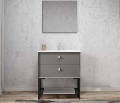 750mm Boston Matte Grey Wall Hung Vanity 5