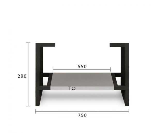 750mm Boston Matte Grey Wall Hung Vanity 6