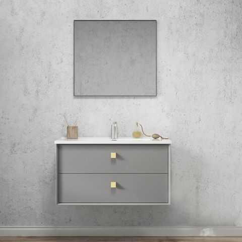 900mm Boston Matte Grey Wall Hung Vanity