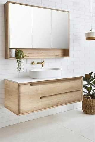 1200mm Byron Natural Oak Wall Hung Vanity 4