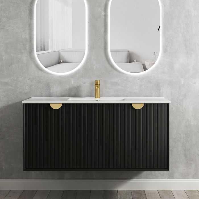 1200mm Marlo Matte Black Wall Hung Vanity