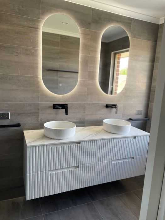 1500mm Noosa Matte White Wall Hung Vanity (Double Bowl) 2