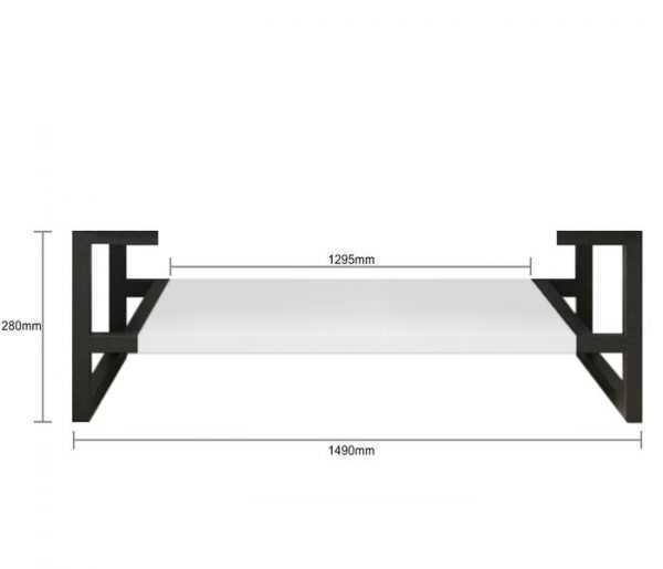 1500mm Noosa Matte White Wall Hung Vanity (Double Bowl) 5
