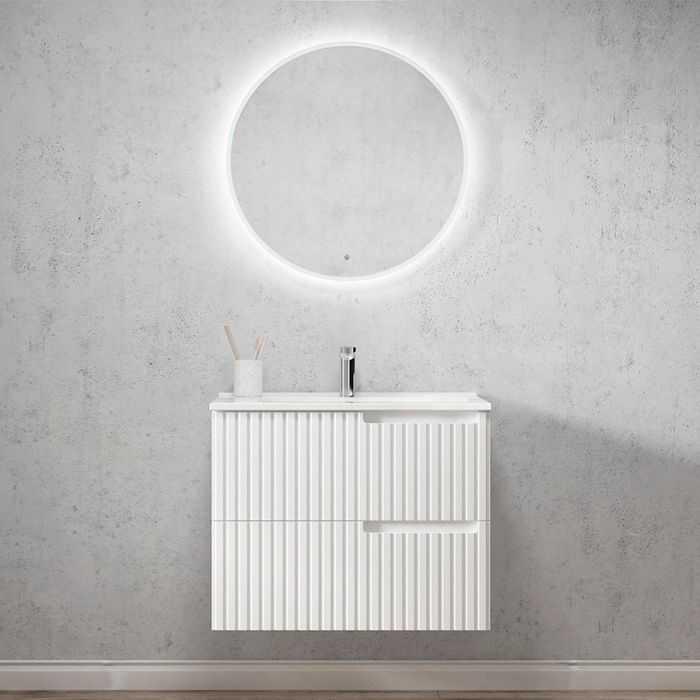 750mm Noosa Matte White Wall Hung Vanity
