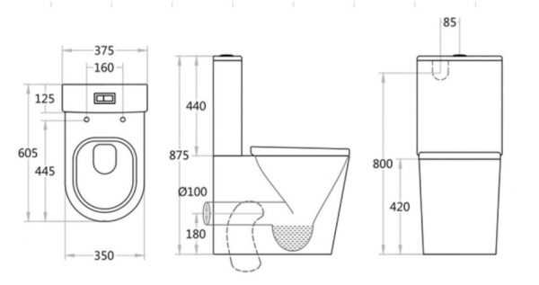 BELMONT Rimless Toilet Suite 2