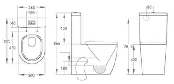 DAMIAN Tornado Flush Toilet Suite 2