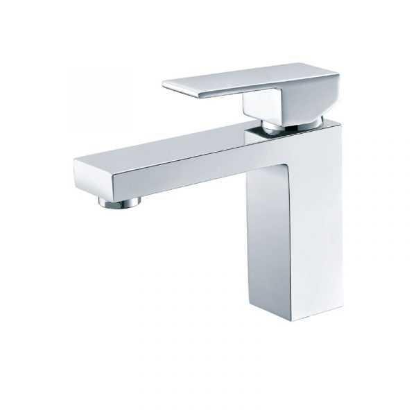ECKIG Chrome Basin Mixer