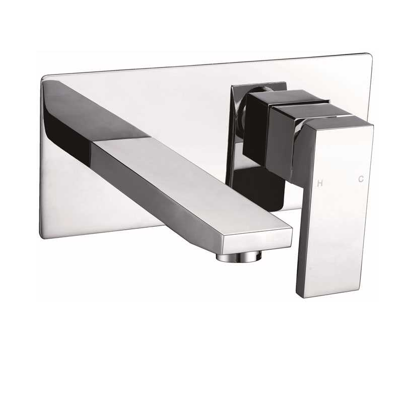 ECKIG Chrome Wall Mixer with Spout