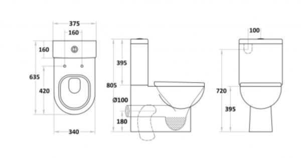 RIO Back To Wall Toilet Suite 2