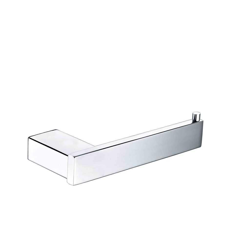 SS ECKIG Chrome Toilet Roll Holder