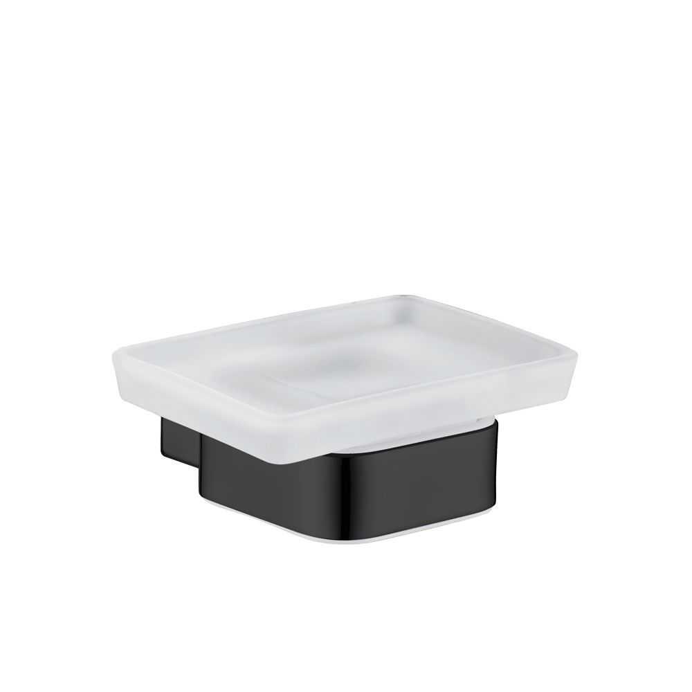 SS ECKIG Black Soap Dish