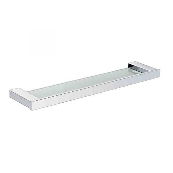 SS ECKIG Chrome Glass Shelf