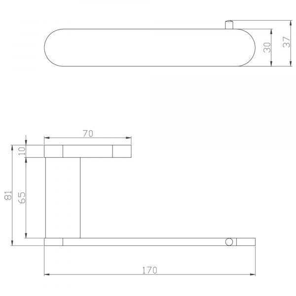 SS RUND Chrome Toilet Roll Holder 2