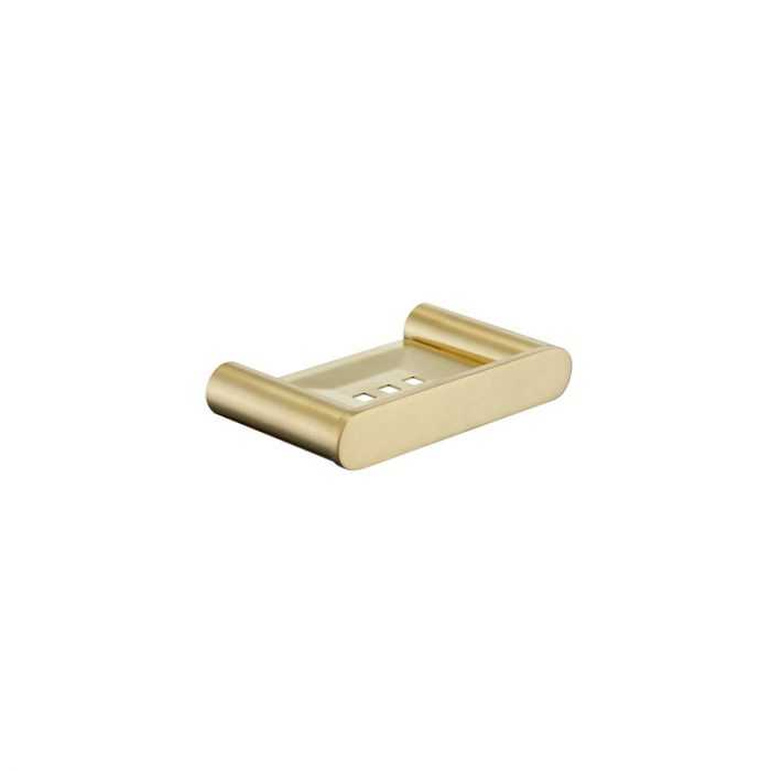 SS RUND Brushed Gold Soap Tray