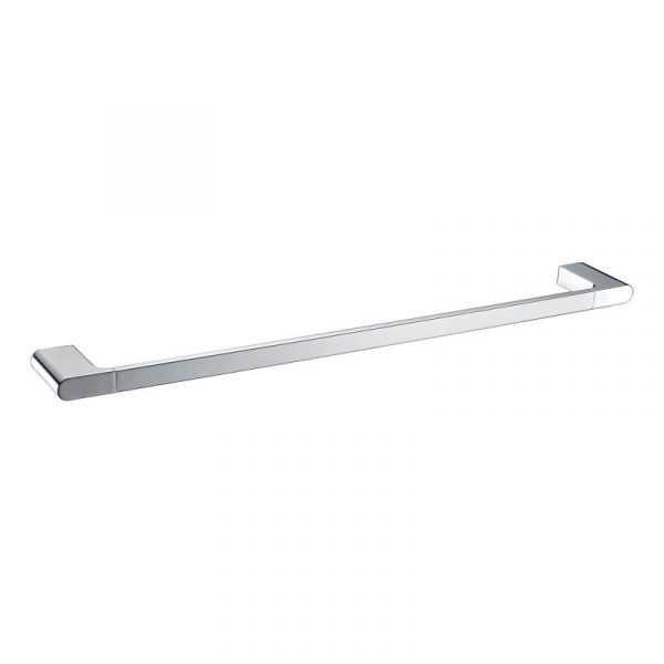 KOMPAKT RUND Chrome 600mm Single Towel Rail