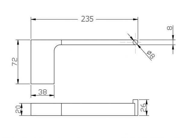 KOMPAKT RUND Chrome Hand Towel Rail 2