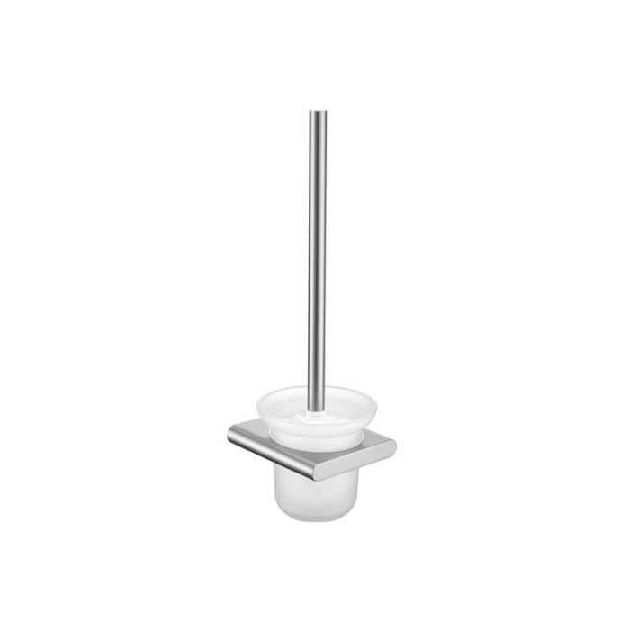 KOMPAKT RUND Brushed Nickel Toilet Brush Holder