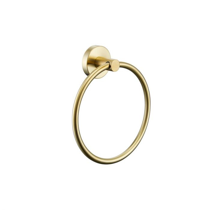 RUND Brushed Gold Hand Towel Ring