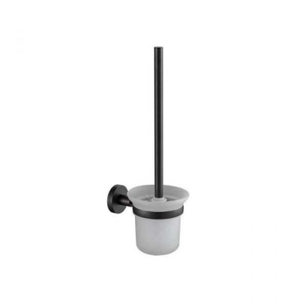 RUND Black Toilet Brush Holder