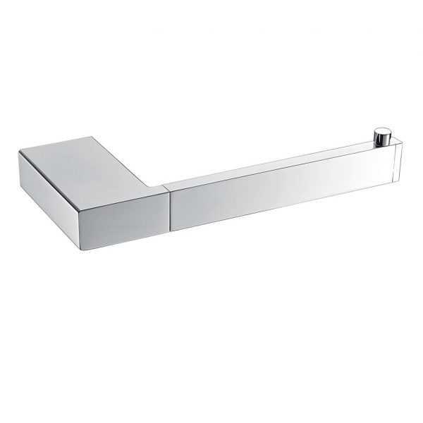 KOMPAKT ECKIG Chrome Toilet Roll Holder