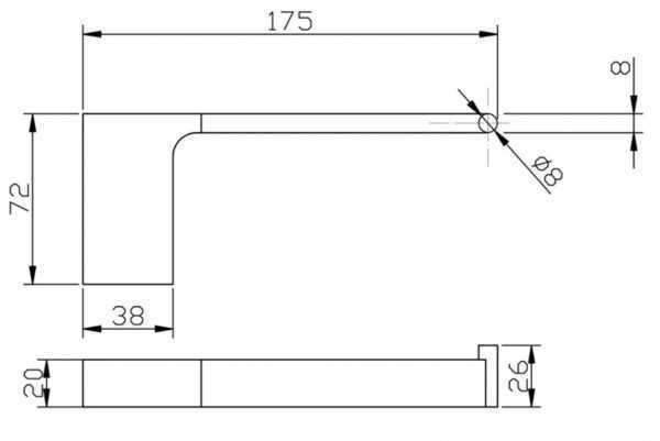 KOMPAKT ECKIG Chrome Toilet Roll Holder 2