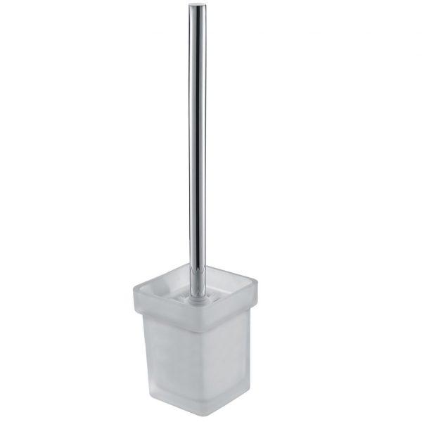 KOMPAKT ECKIG Chrome Toilet Brush Holder 2