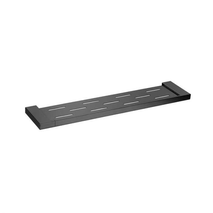 KOMPAKT ECKIG Black Shower Shelf