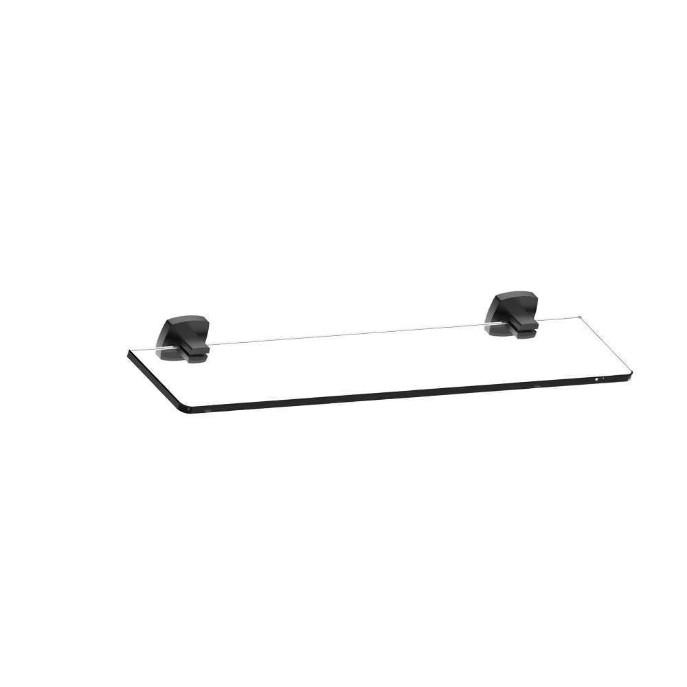 LUXUS Black Glass Shelf