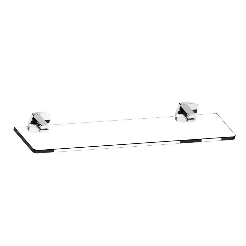 LUXUS Chrome Glass Shelf