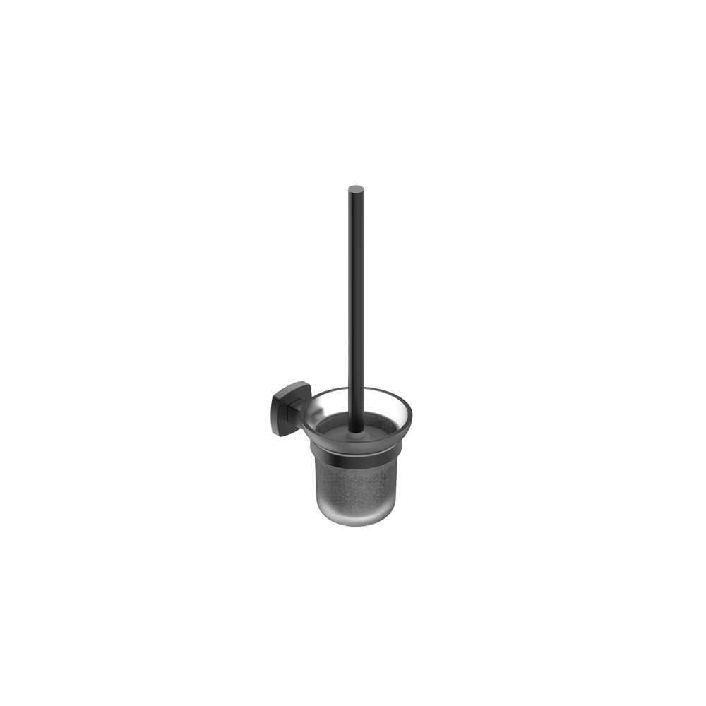 LUXUS Black Toilet Brush Holder