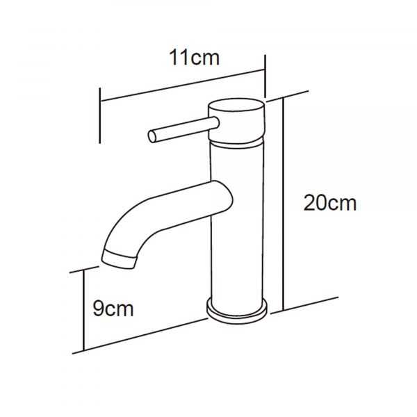 RUND Chrome Basin Mixer with Curved Spout 2
