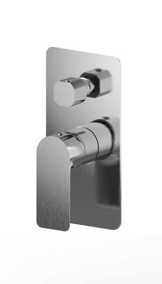 LUXUS Brushed Nickel Wall Mixer with Diverter