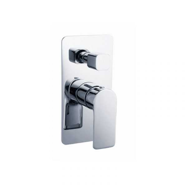 LUXUS Chrome Wall Mixer with Diverter
