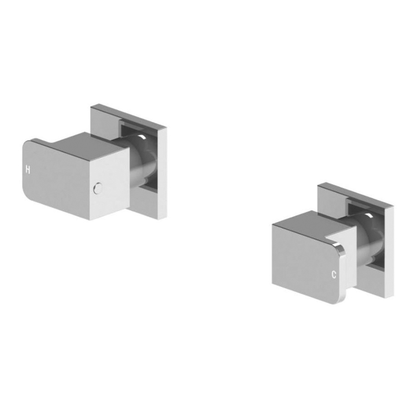 WAHLEN 10 Chrome Square Wall Top Assemblies
