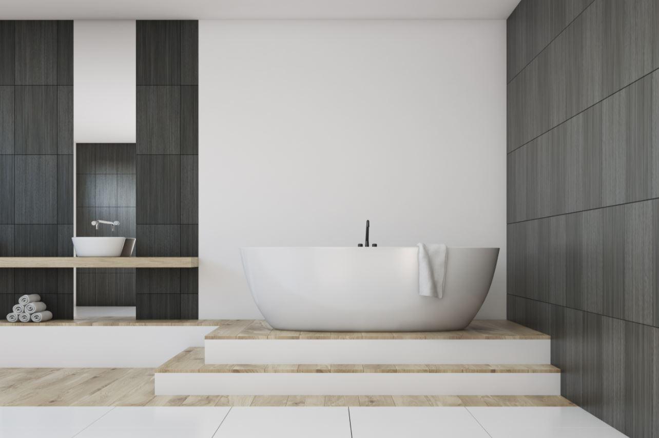 OLIVIA 1530mm Matte White Freestanding Bathtub