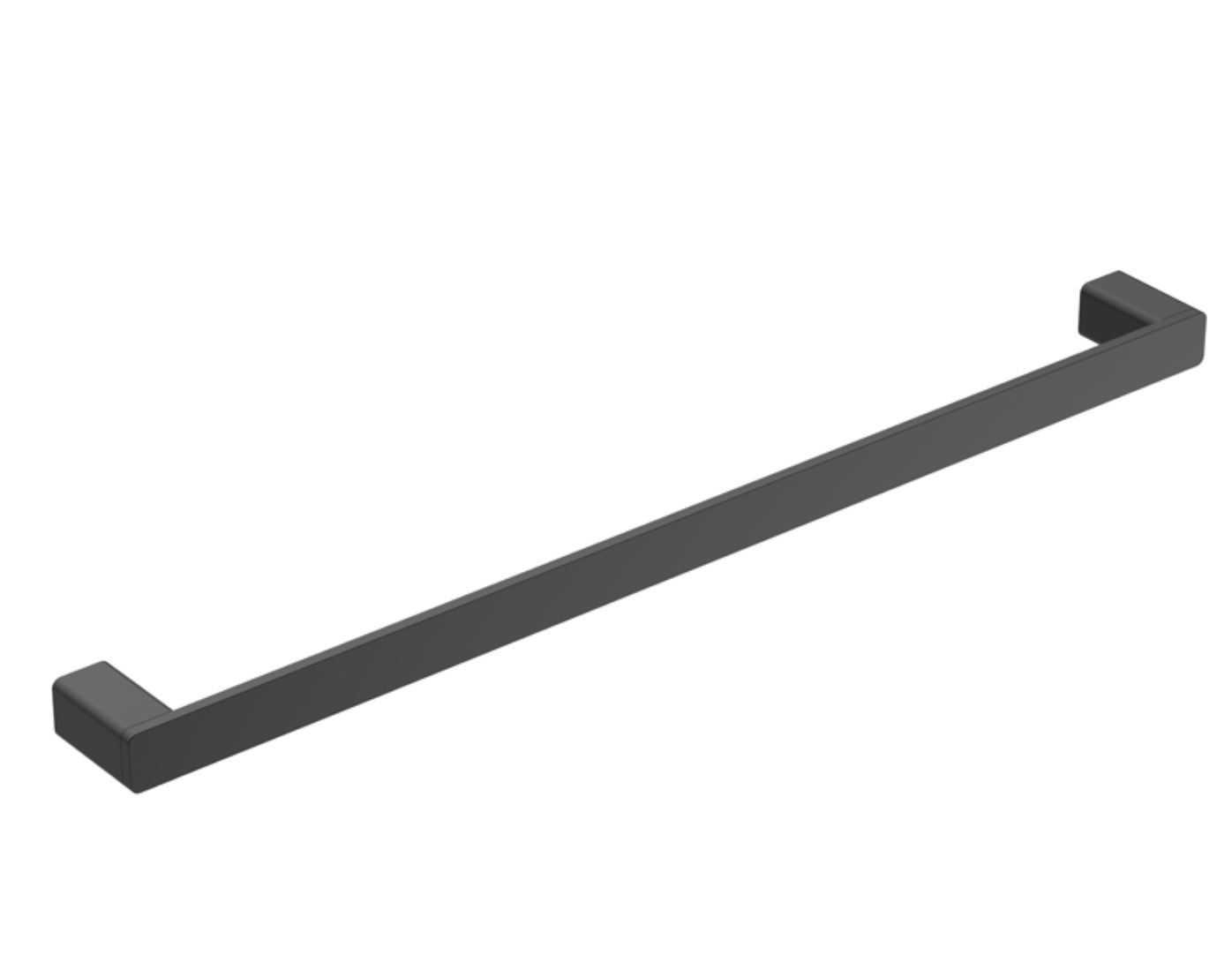 KASTEN 800mm Black Single Towel Rail