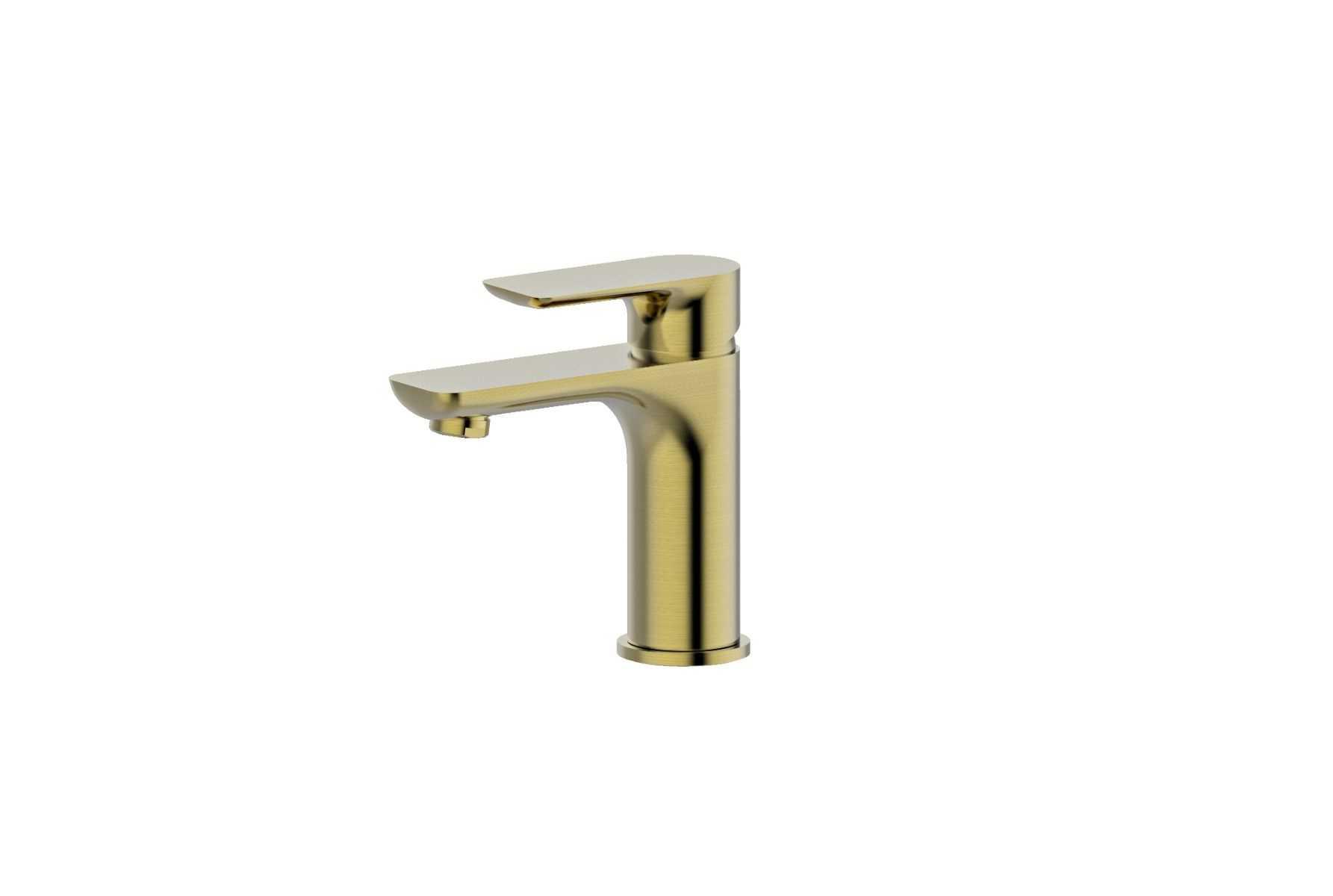 LUXUS Brushed Gold Basin Mixer